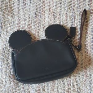 COACH x DISNEY Mickey Black Wristlet